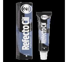 Краска для бровей и ресниц Refectocil № 2 Иссине-Черный 15 мл
