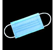 Маска 3-х слойная на резинках Голубая 1-Touch Эконом 50 шт/упк