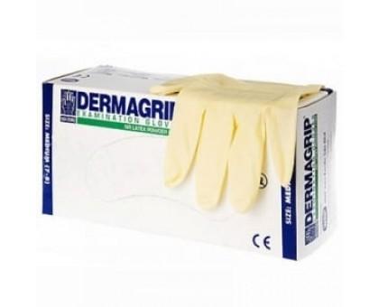 Перчатки латексные Dermagrip cllassic смотровые нестерильные S