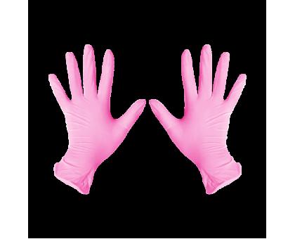 Перчатки нитриловые M Розовый 100 шт/уп