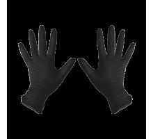 Перчатки нитриловые S Черные 100 шт/уп
