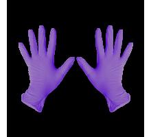 Перчатки нитриловые S Фиолетовый 200 шт/уп