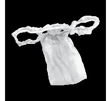Трусы женские бикини с рюшей Спанбонд Белый 10 шт/уп поштучно