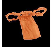 Трусы женские бикини с рюшей Спанбонд Оранжевый 10 шт/уп поштучно