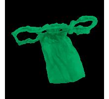 Трусы женские бикини с рюшей Спанбонд Зеленый 10 шт/уп поштучно